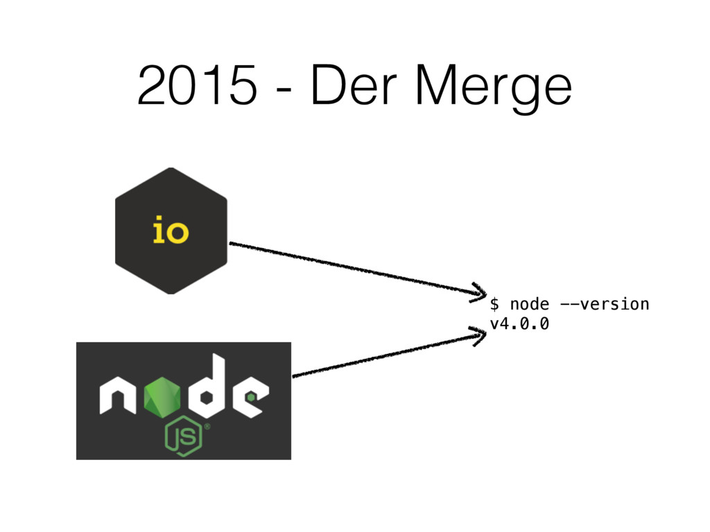 2015 - Der Merge $ node --version v4.0.0