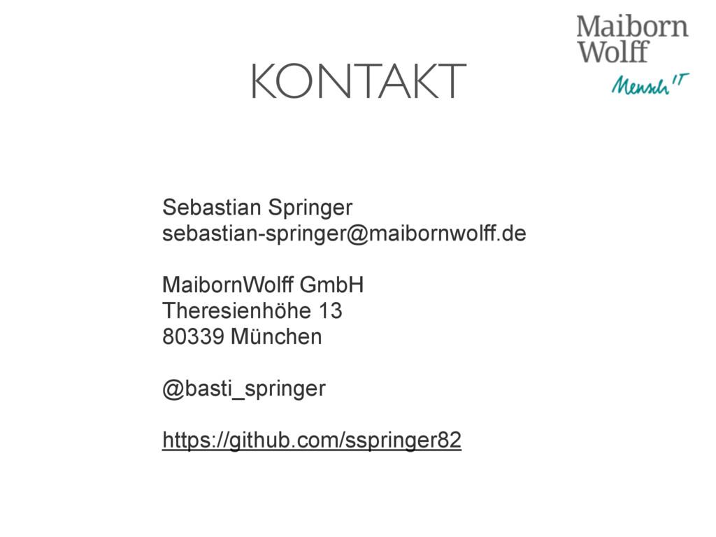 KONTAKT Sebastian Springer sebastian-springer@m...