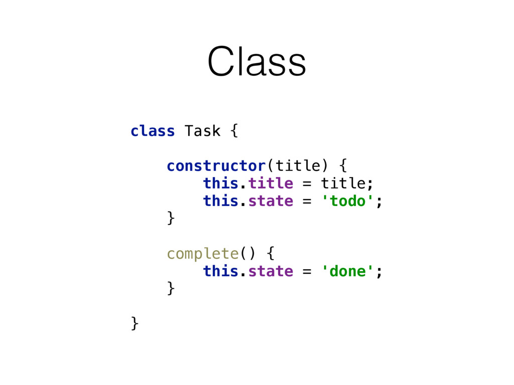 Class class Task {  constructor(title) { thi...