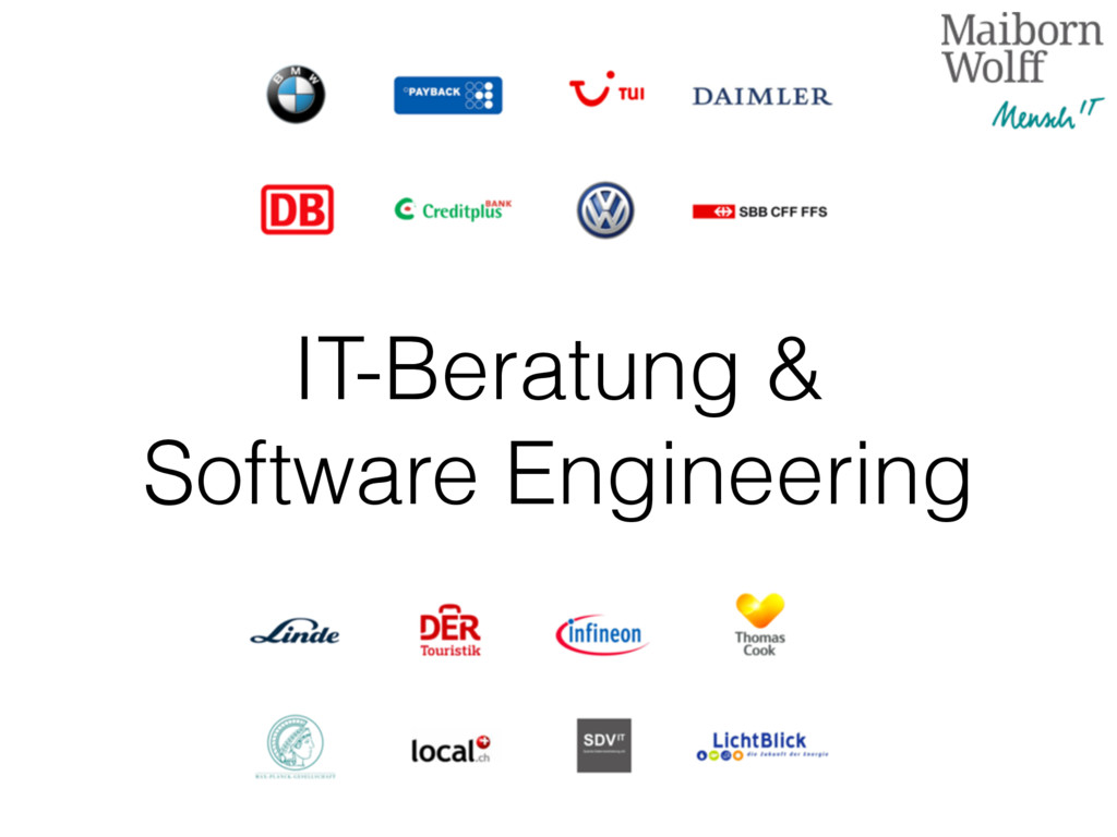 IT-Beratung & Software Engineering
