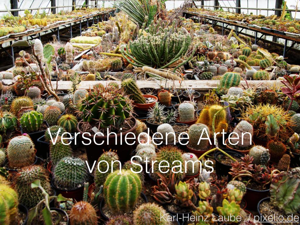 Verschiedene Arten von Streams Karl-Heinz Laube...