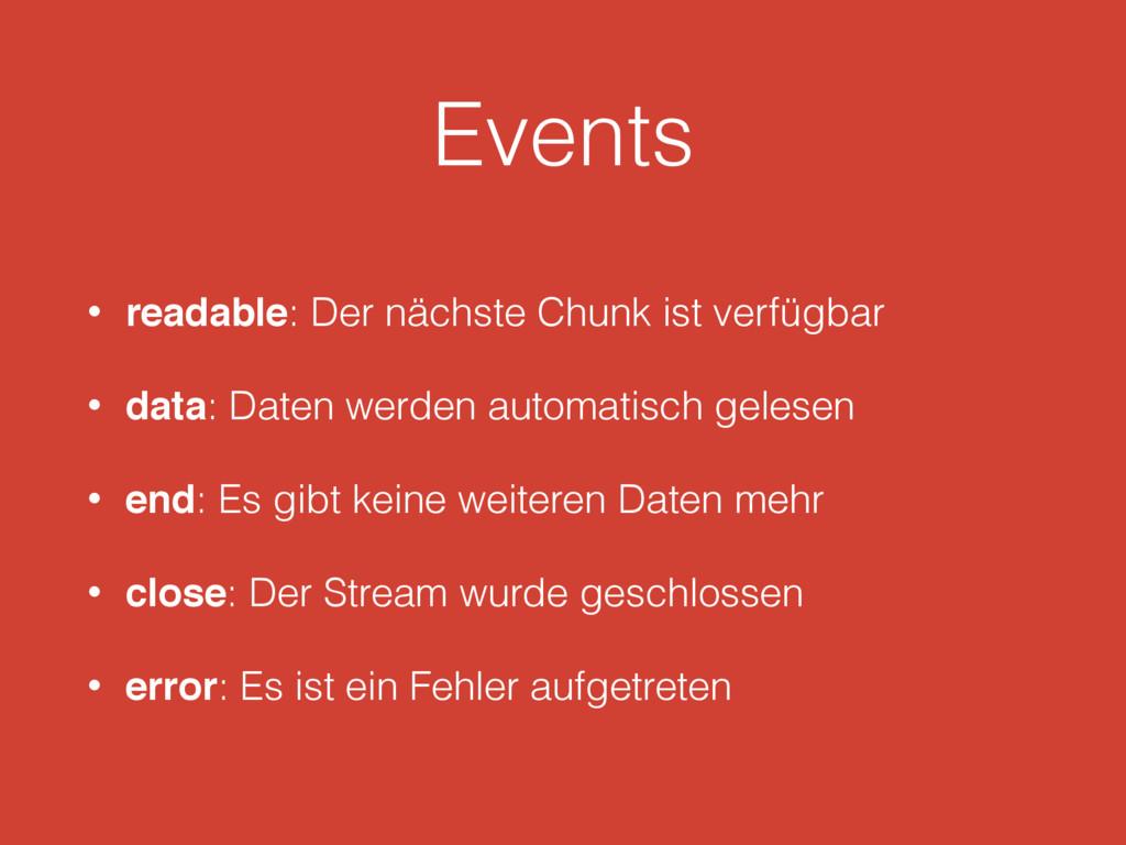 Events • readable: Der nächste Chunk ist verfüg...