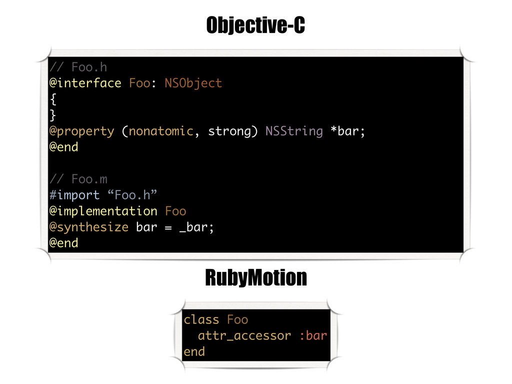 // Foo.h @interface Foo: NSObject { } @property...