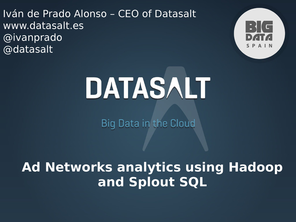 Ad Networks analytics using Hadoop and Splout S...