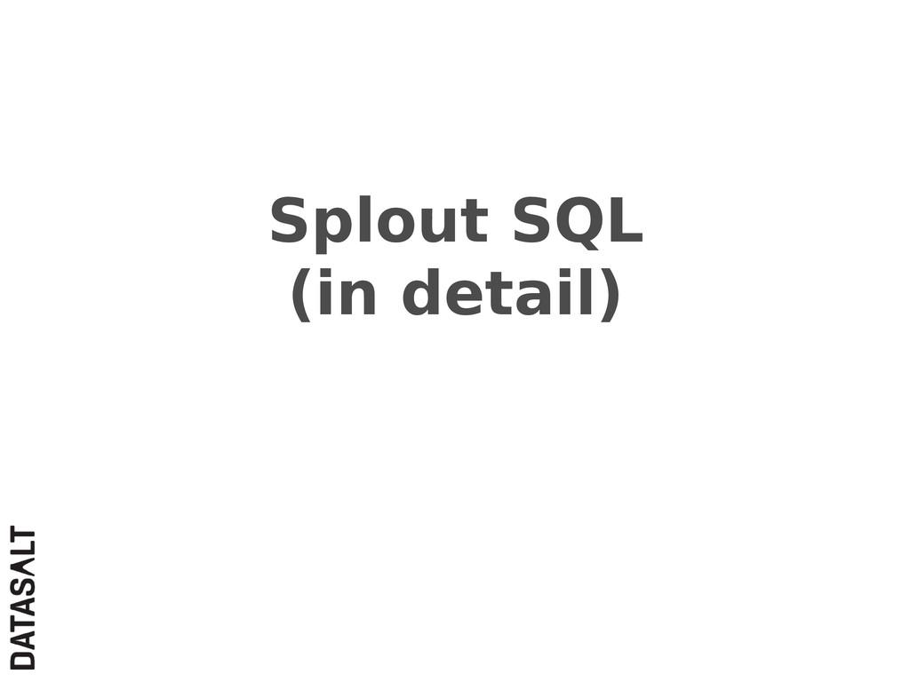 Splout SQL (in detail)