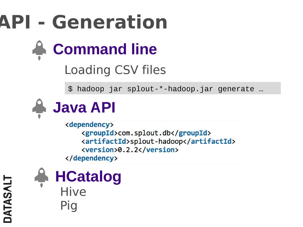 API - Generation Command line Loading CSV files...