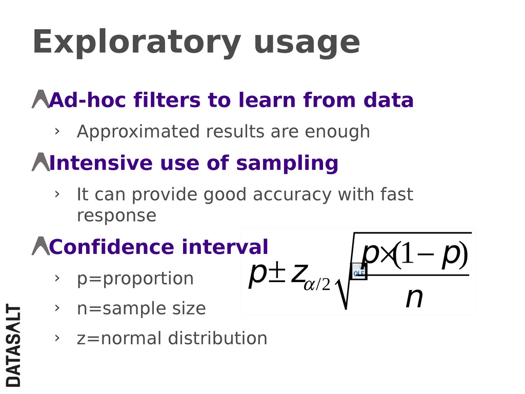 Exploratory usage Ad-hoc filters to learn from ...