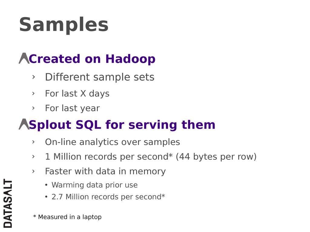 Samples Created on Hadoop › Different sample se...