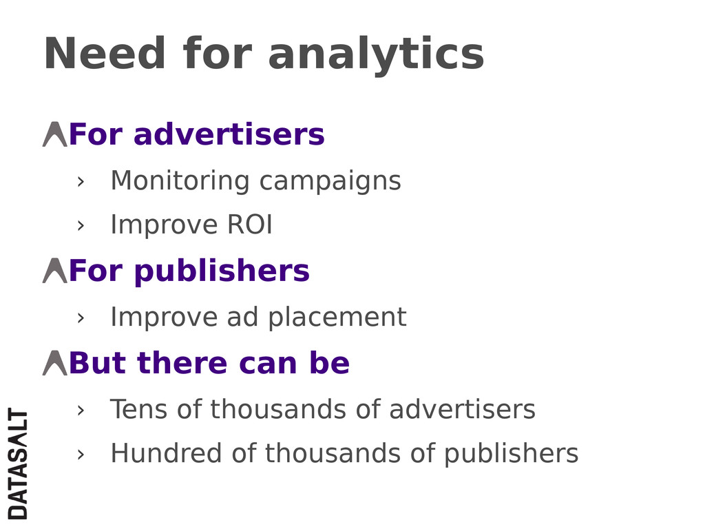 Need for analytics For advertisers › Monitoring...