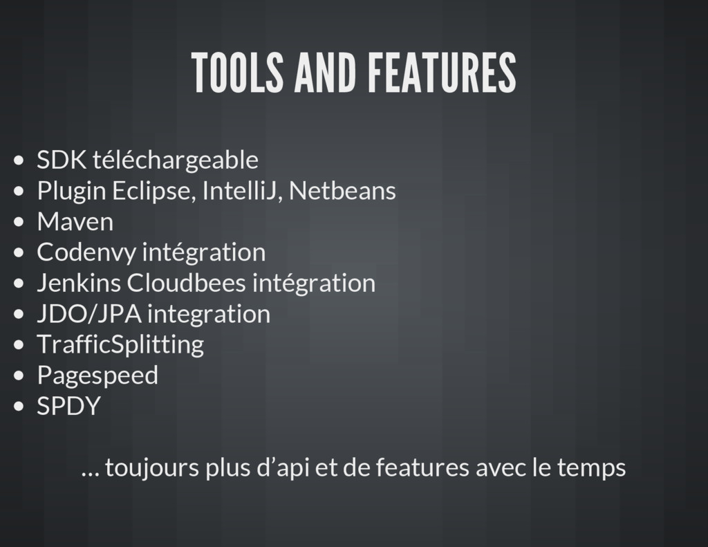 TOOLS AND FEATURES SDK téléchargeable Plugin Ec...