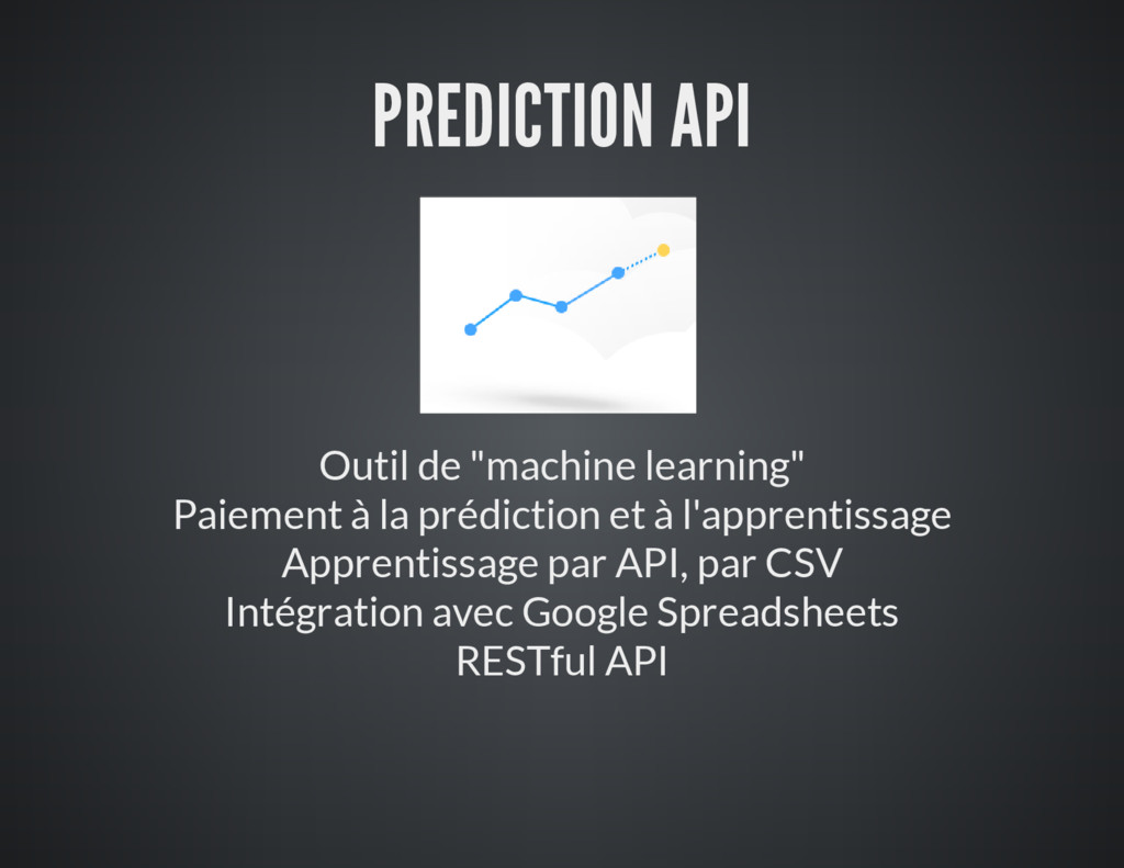 "PREDICTION API Outil de ""machine learning"" Paie..."