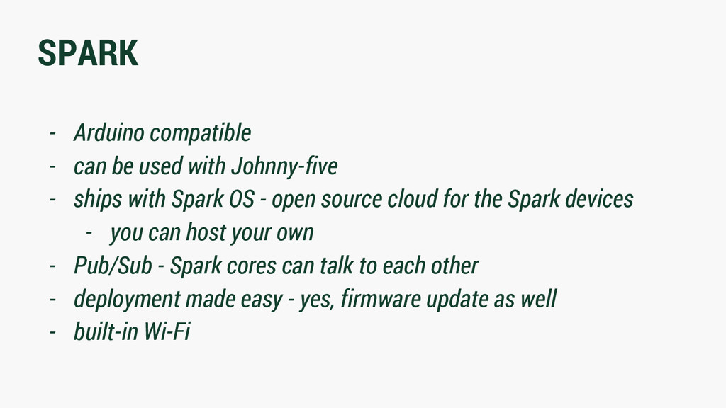 SPARK - Arduino compatible - can be used with J...