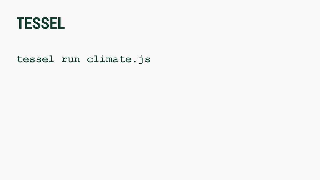 TESSEL tessel run climate.js