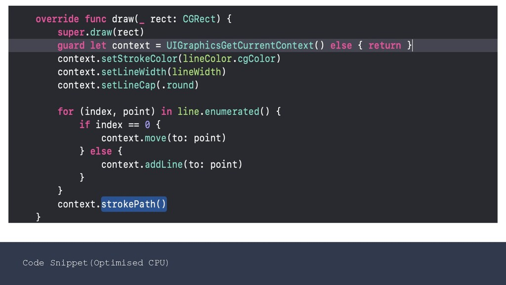 Code Snippet(Optimised CPU)