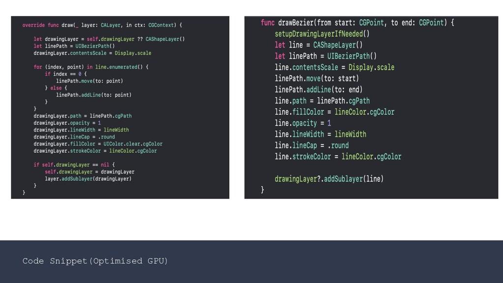 Code Snippet(Optimised GPU)