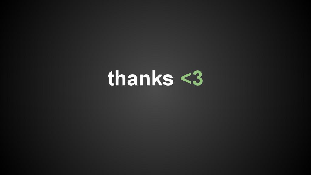 thanks <3