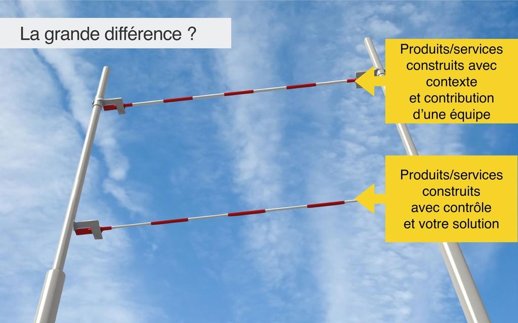 La grande différence ? Produits/services constr...