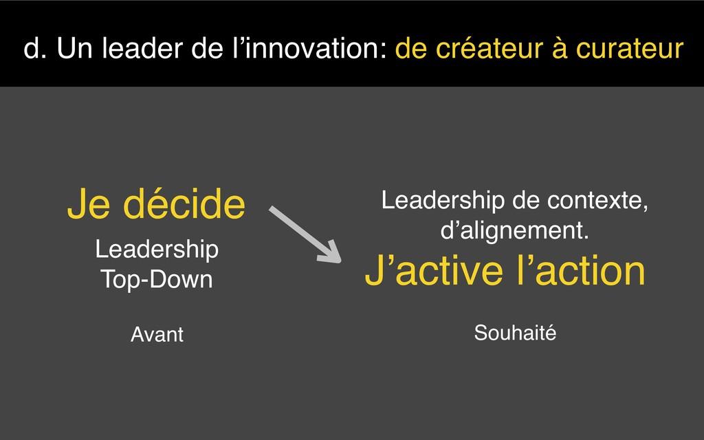 d. Un leader de l'innovation: de créateur à cur...