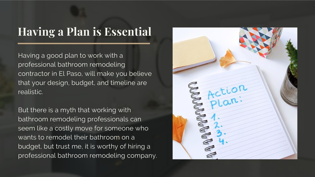 Having a Plan is Essential Having a good plan t...