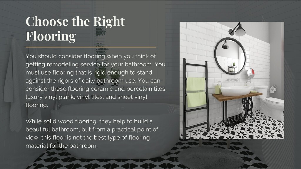 You should consider flooring when you think of ...