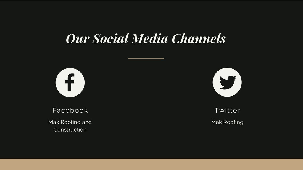 Our Social Media Channels Facebook Mak Roofing ...