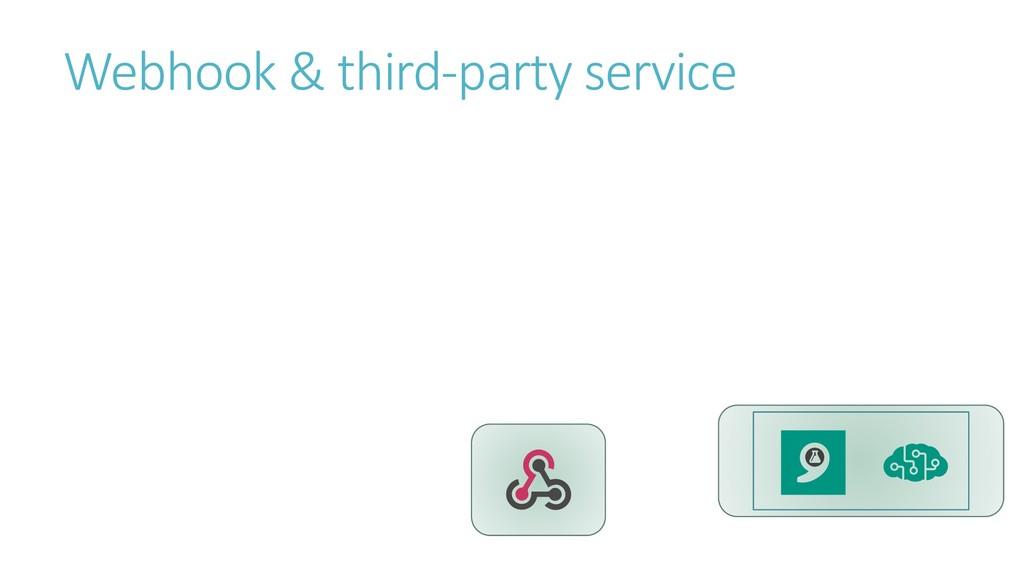 Webhook & third-party service