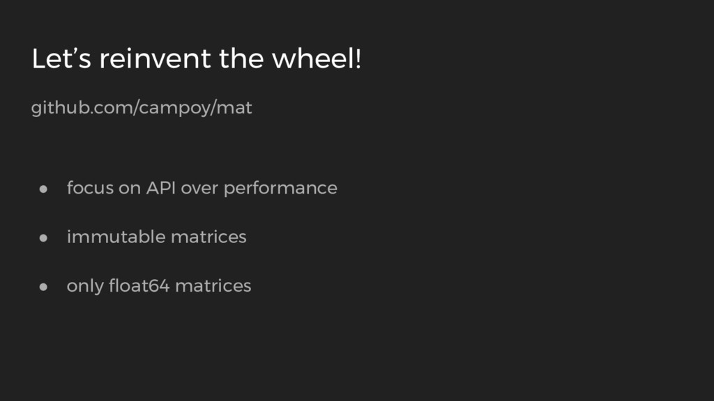 Let's reinvent the wheel! github.com/campoy/mat...