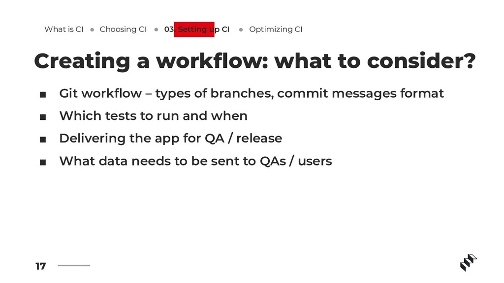 ■ Git workflow – types of branches, commit messa...