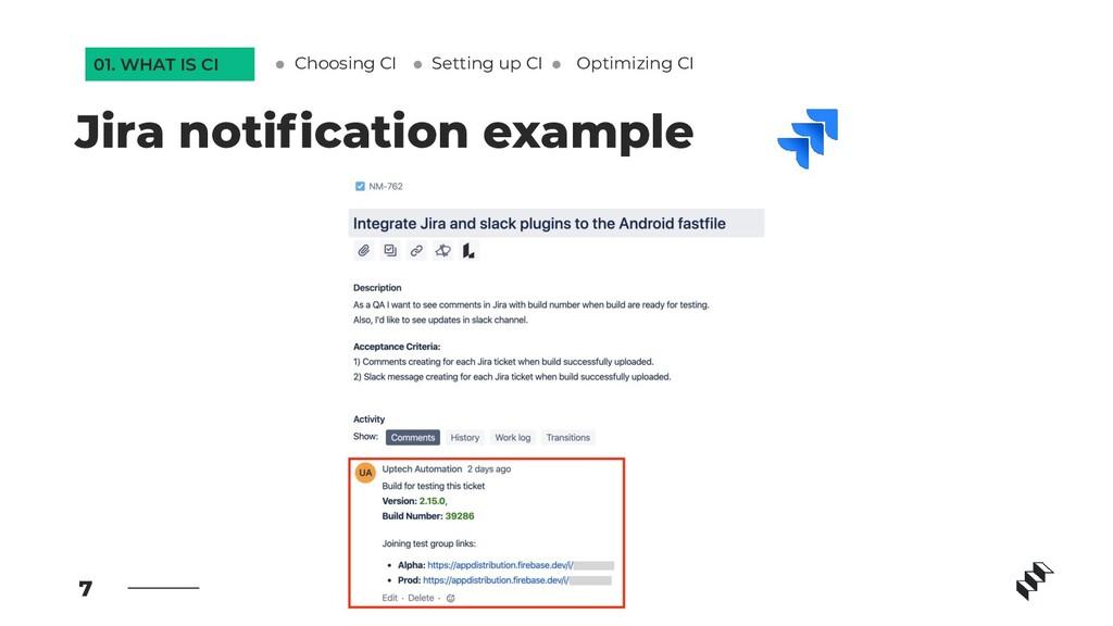 7 Jira notification example Setting up CI Optimi...