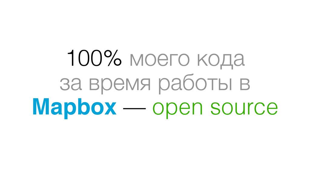 100% моего кода за время работы в Mapbox — open...