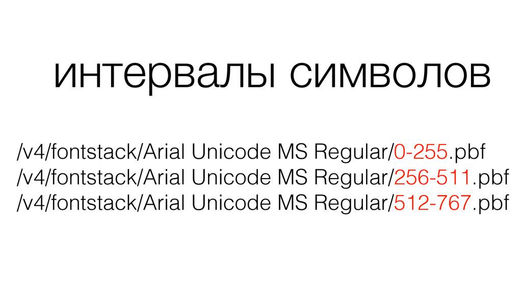 интервалы символов /v4/fontstack/Arial Unicode ...