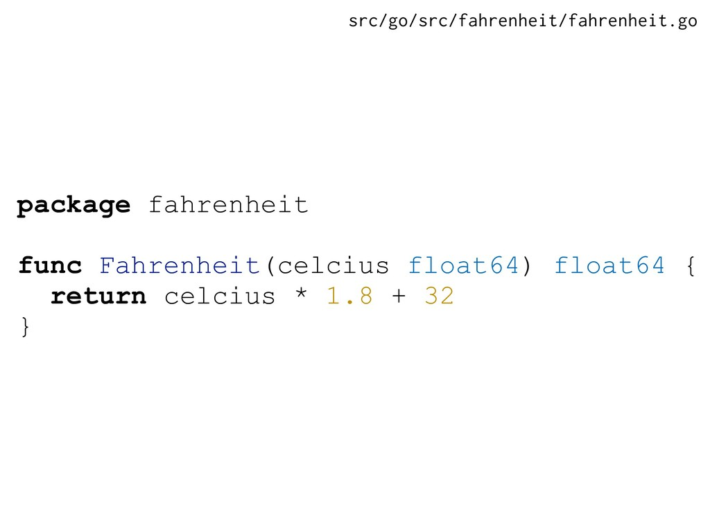 package fahrenheit func Fahrenheit(celcius floa...