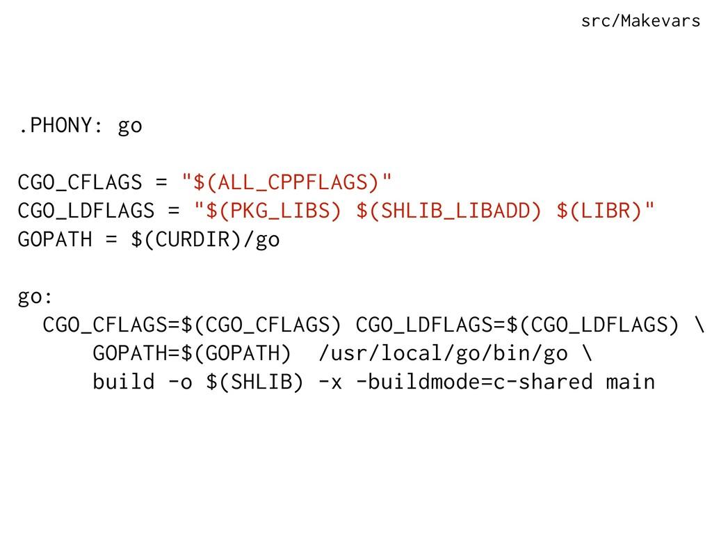 ".PHONY: go CGO_CFLAGS = ""$(ALL_CPPFLAGS)"" CGO_L..."