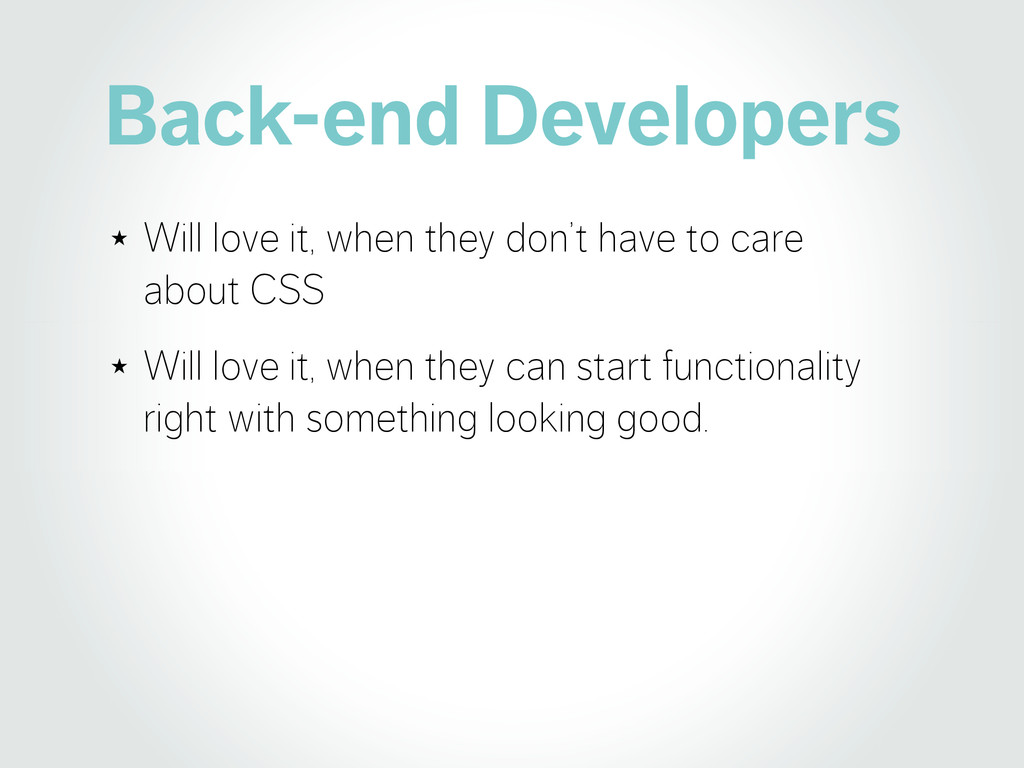 Back-end Developers ★ Will love it, when they d...