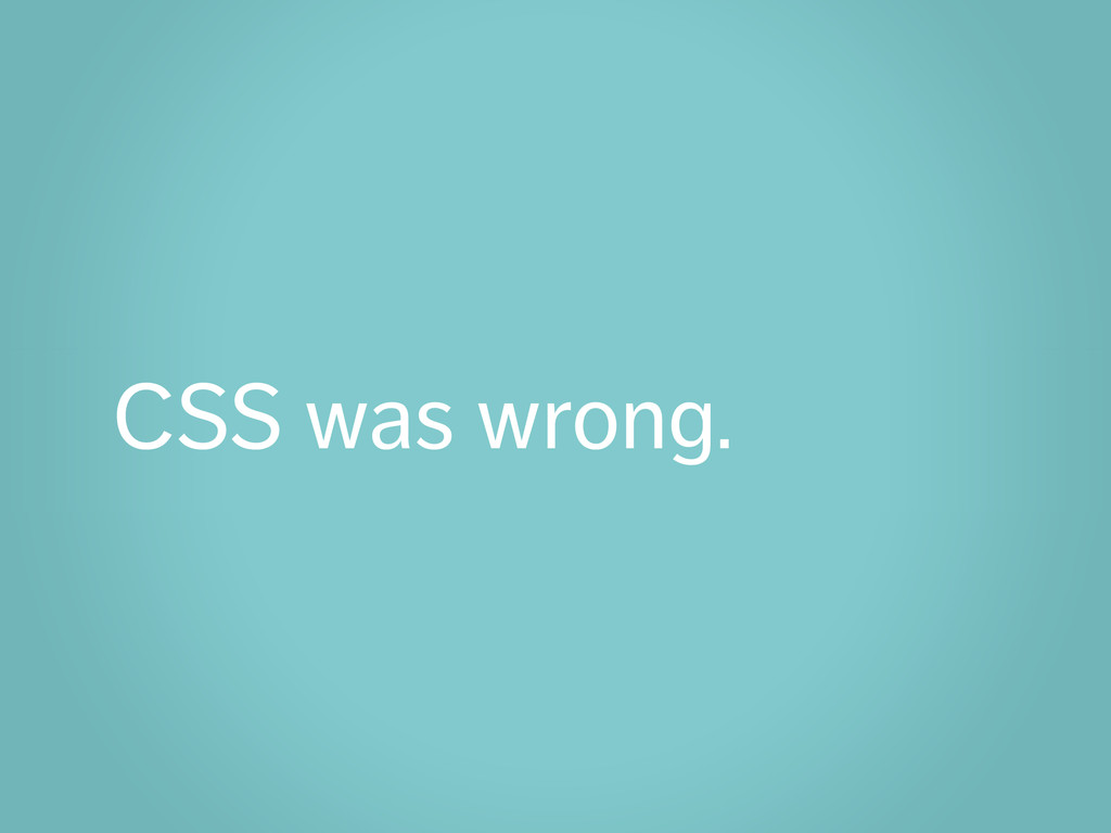 CSS was wrong.