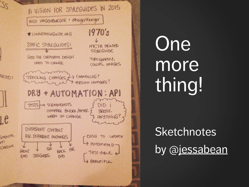 One more thing! ! Sketchnotes by @jessabean