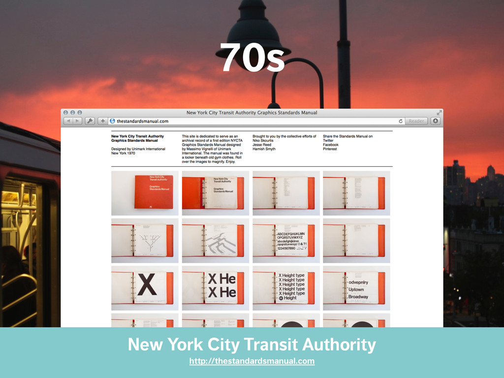 70s New York City Transit Authority http://thes...