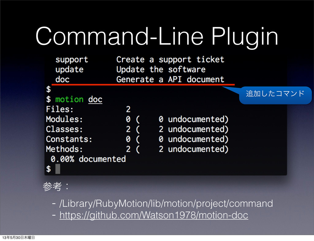 Command-Line Plugin ߟɿ - /Library/RubyMotion/l...