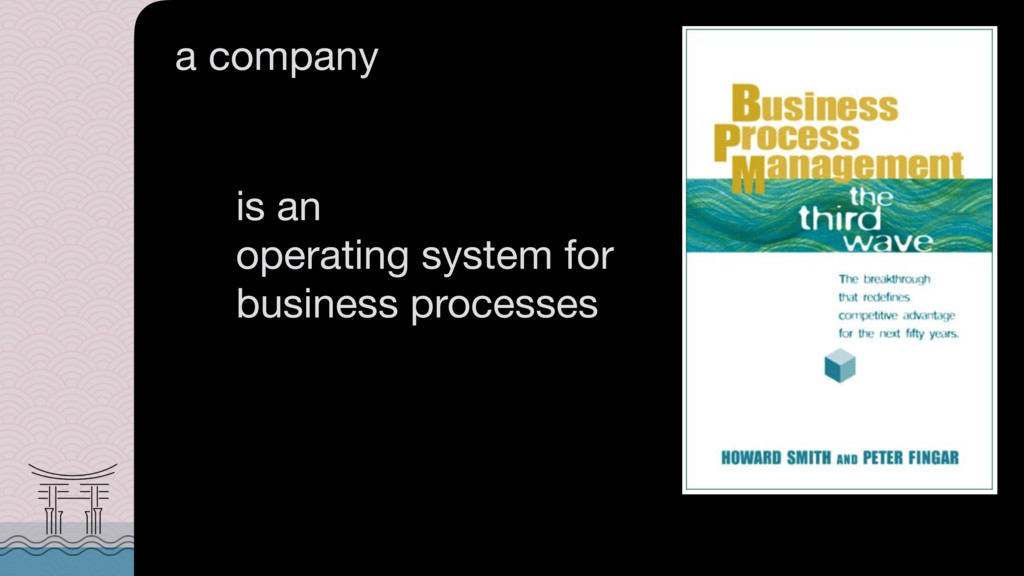 is an  operating system for business processes...