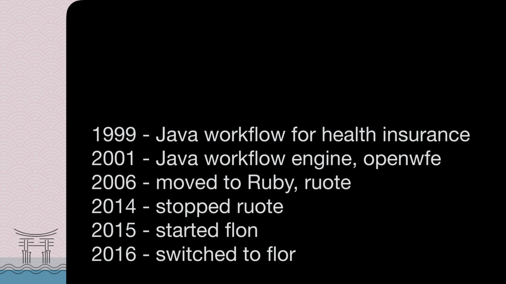 1999 - Java workflow for health insurance  2001 ...