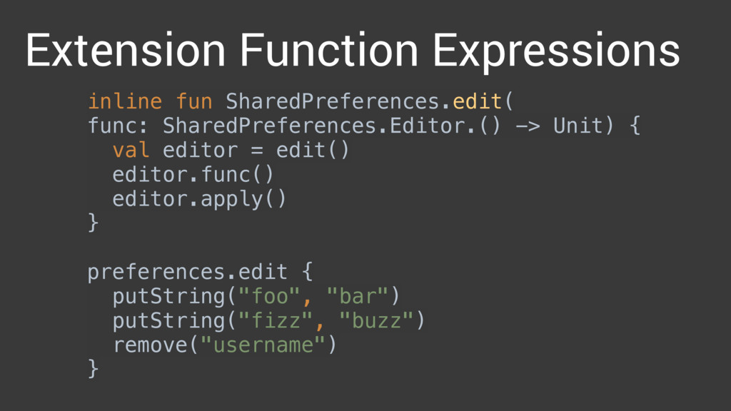inline fun SharedPreferences.edit( func: Shared...