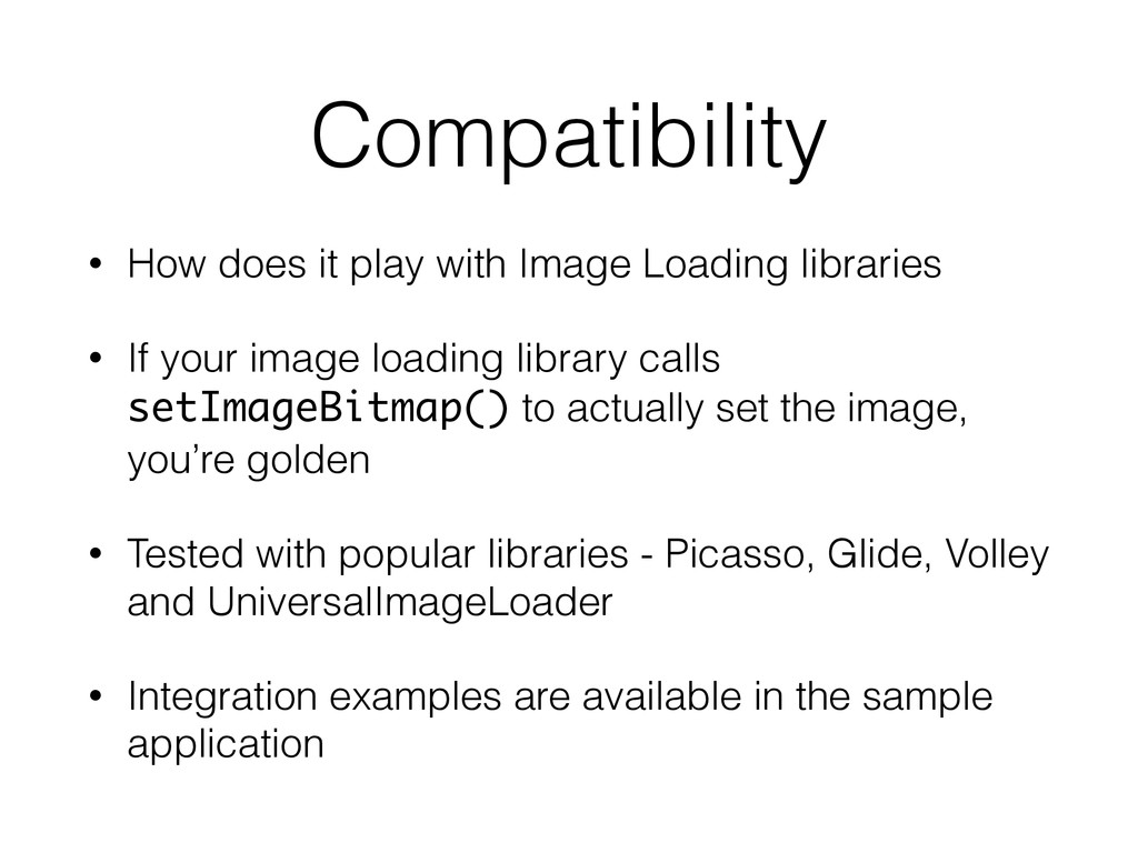 Compatibility • How does it play with Image Loa...