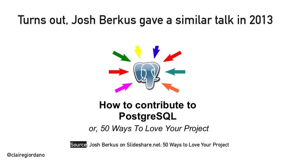 @clairegiordano Source: Josh Berkus on Slidesha...