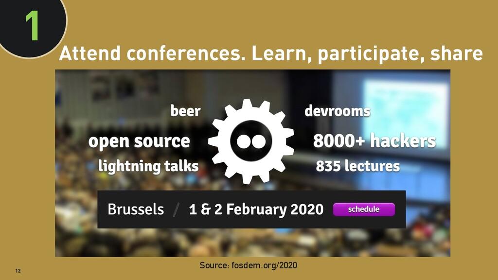 @clairegiordano 12 Attend conferences. Learn, p...