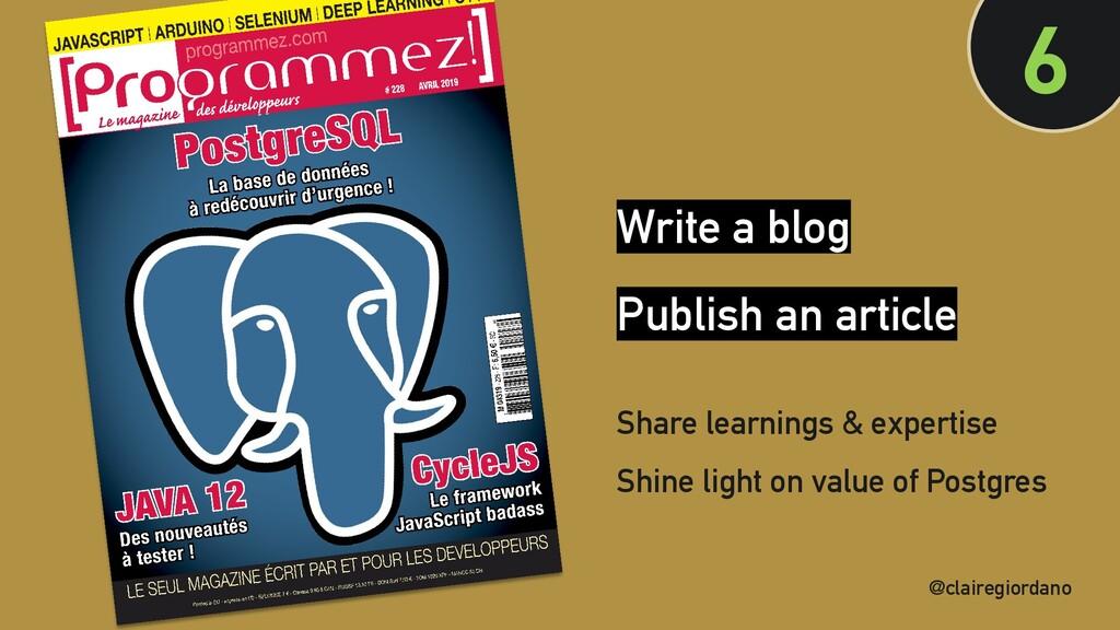 @clairegiordano 6 @clairegiordano Write a blog ...