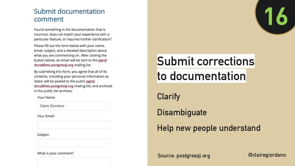 @clairegiordano Submit corrections to documenta...