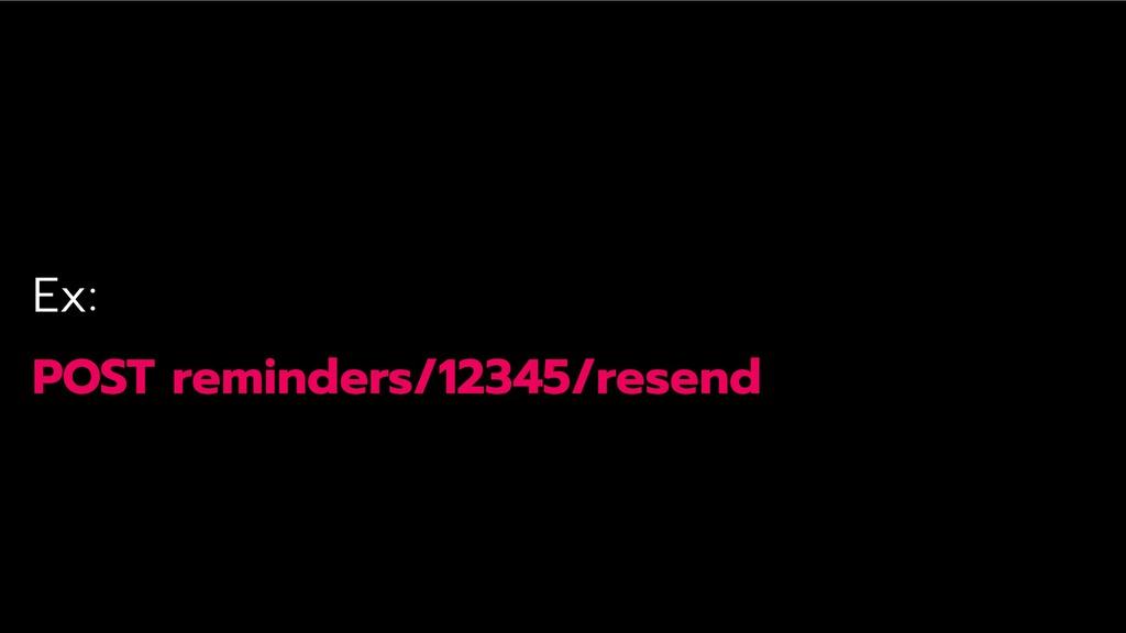 Ex: POST reminders/12345/resend