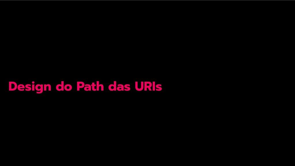 Design do Path das URIs