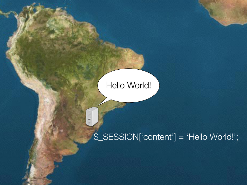$_SESSION['content'] = 'Hello World!'; Hello Wo...