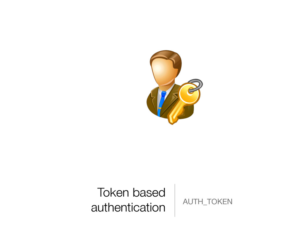 Token based authentication AUTH_TOKEN